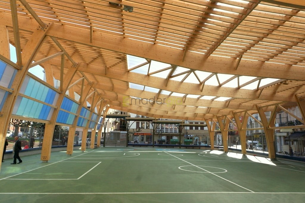 Estructuras de madera madergia - Estructura madera laminada ...