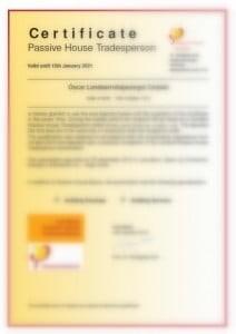 Certificado TradesPerson Passiv