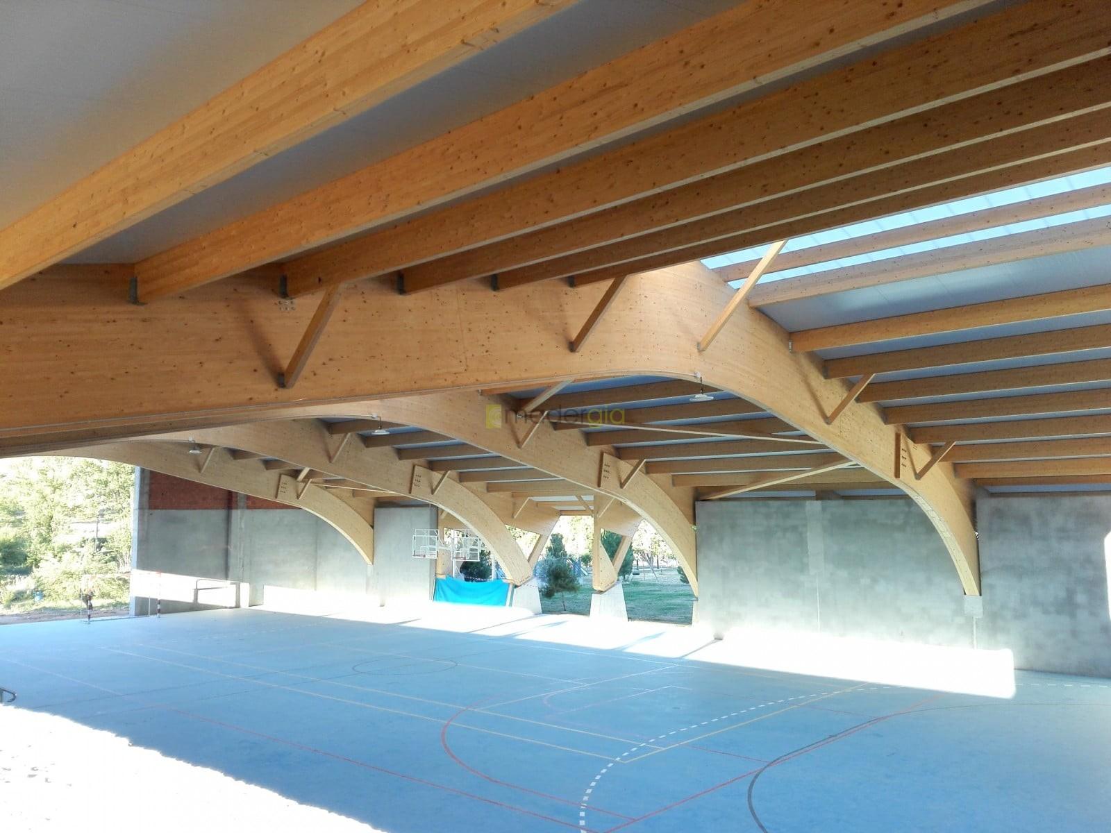Cubiertas de madera laminada simple cubierta estructura - Estructura madera laminada ...