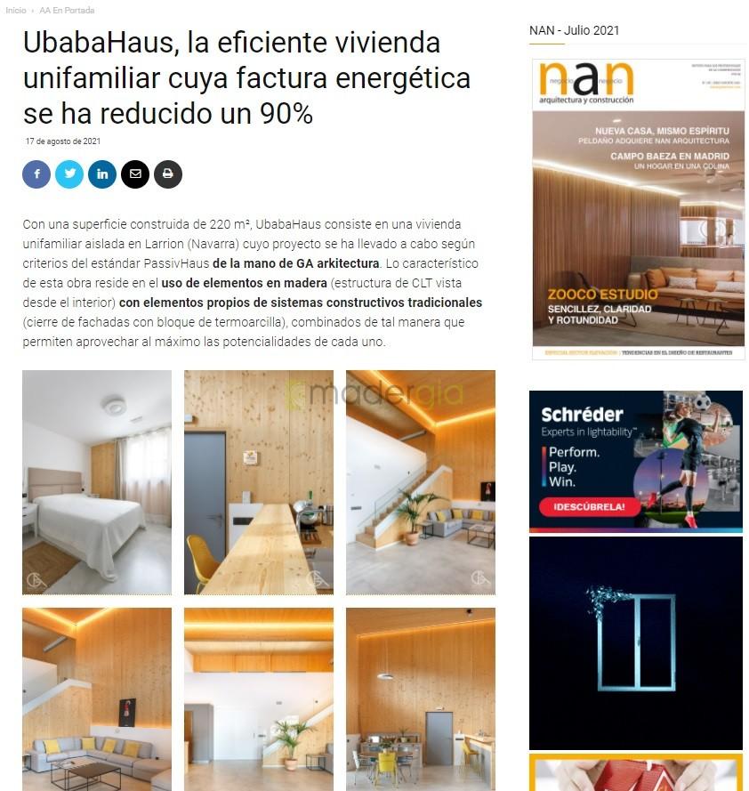 Publicación revista arquitectura